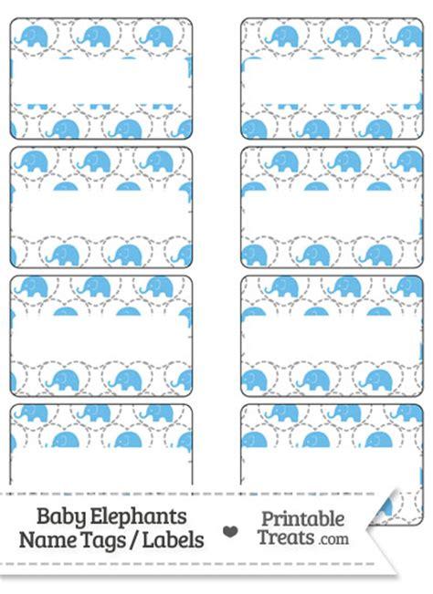 printable elephant name tags blue baby elephants name tags printable treats com