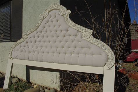 antique tufted headboard re ved vintage tufted headboard omero home