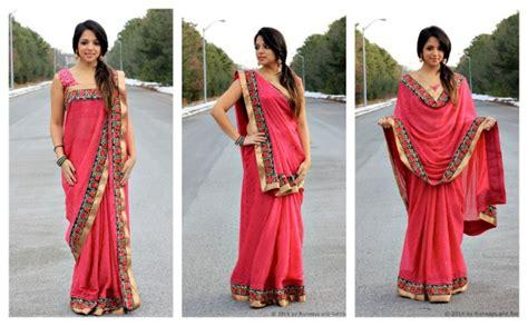 how to drape sari wrap me pretty runways rattles