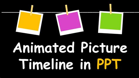 Creative Powerpoint Timeline With Photos Cool Animation Animated Timeline Maker