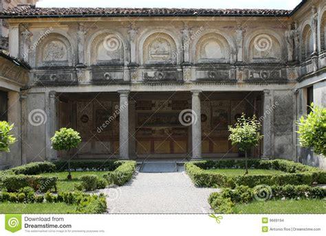 Italian Garden Mantua by Palazzo Te Mantova Italy The Secret Garden Stock