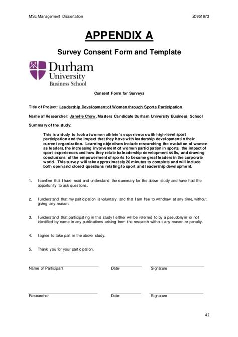 consent letter questionnaire dissertation questionnaire cover letter durdgereport886