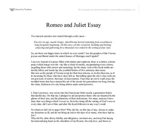 Romeo And Juliet Essay Conclusion by Help On Romeo And Juliet Essay