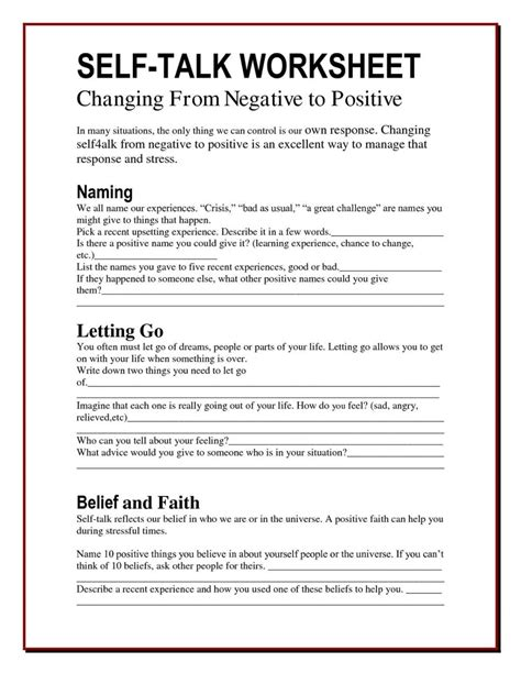 Secure Youth Detox by Worksheet Ideas Positive Thinking Worksheets Positive