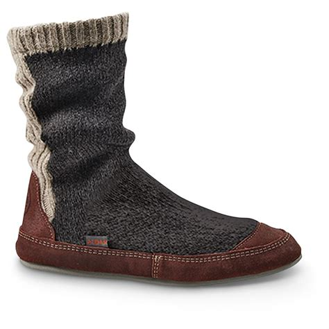 slipper boots mens acorn s slouch boots 667133 slippers at sportsman s