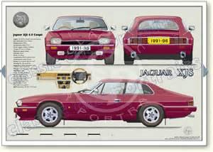 Jaguar V12 Engine Dimensions Jaguar Xjs 4 0 Coup 233 1992 96 Classic Car Portrait Print