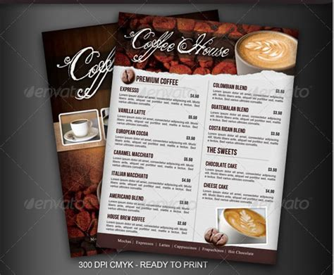 coffee shop brochure template coffee shop flyer template
