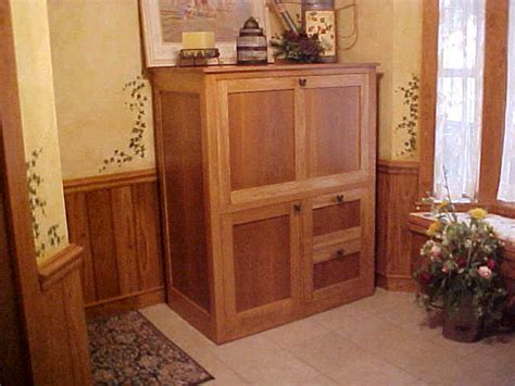 Hideaway Computer Cabinet by Hideaway Computer Desk Cabinet Glider Woodworking Plans Free