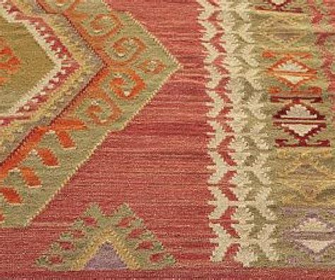 Pottery Barn Diamond Kilim Wool Rug 5x8 5 X 8 Red New In Ebay Pottery Barn Rug