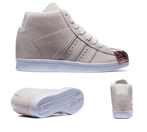 Adidas Superstar Up Metal Toe Womens adidas originals womens superstar up metal toe trainer white footasylum