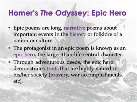 unit epic poetry the odyssey ppt