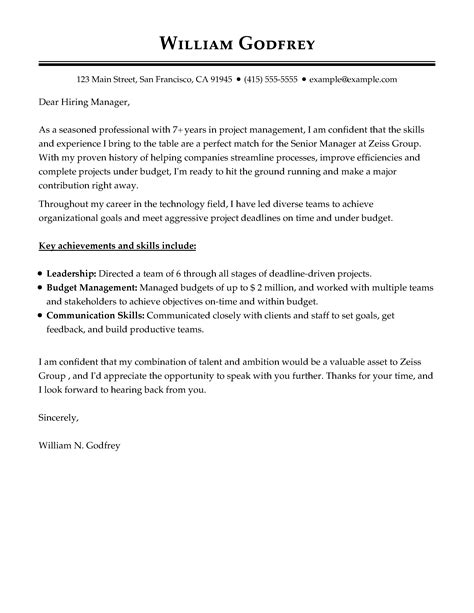 cover letter templates  perfect cover letter