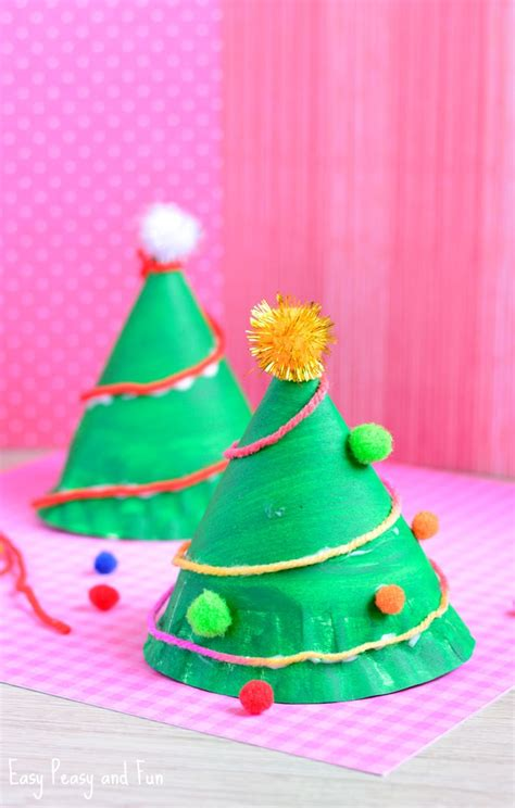 paper christmas treecraft paper plate tree craft easy peasy and