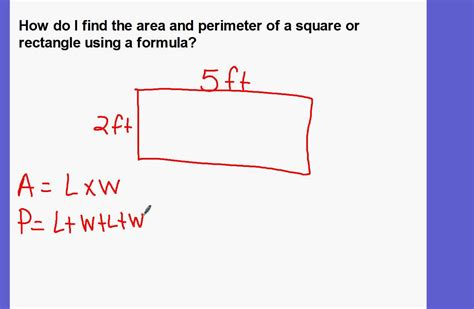 how do i find the square footage of my house finding the area and perimeter of a square or rectangle