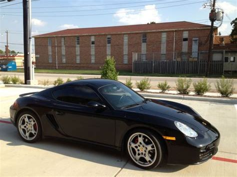 porsche hatchback black buy used 2007 porsche cayman s hatchback 2 door 3 4l black