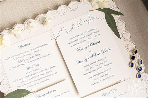 wedding invitations city philadelphia emily stan s classic philadelphia skyline wedding