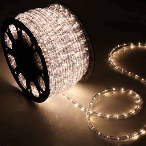 150 warm white led rope light home outdoor christmas