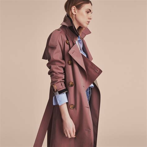 Burberry Bb010 Rosegold F tropical gabardine trench coat in antique burberry united states