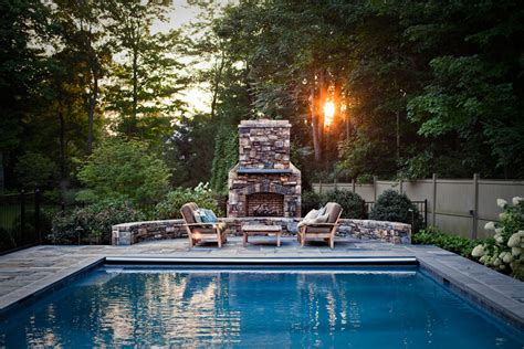 outdoor küche designs mit pool outdoor gas fireplace with pool furniture pool traditional
