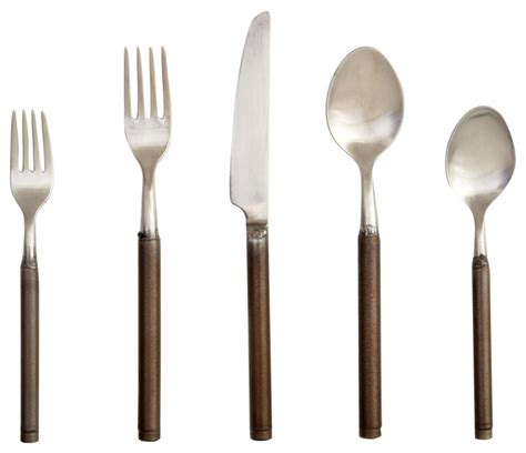 steel place setting set of 5 modern flatware and fuoco flatwares 5 piece set contemporary flatware and
