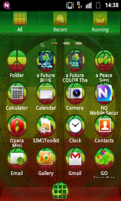 android themes free go launcher ex theme peacesign free app android freeware