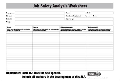 activity hazard analysis template safety analysis template 6 free word pdf documents downlaod with regard to activity