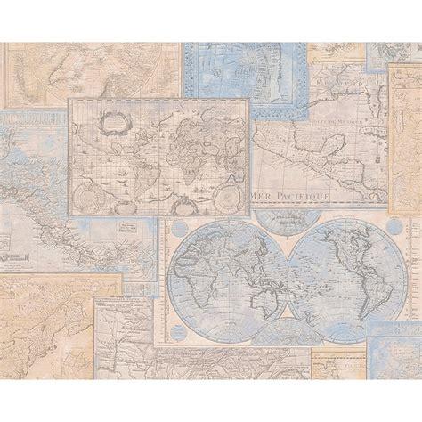 vintage map pattern as creation atlas mosaic pattern motif textured vinyl