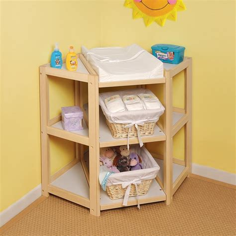 Corner Change Table Badger Basket Corner Changing Table By Oj Commerce 136 20 140 67