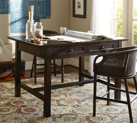 counter height project table home office project table pottery barn los