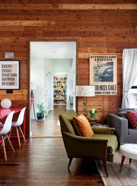 how to make wood paneling work 20 charming living rooms with wooden panel walls rilane