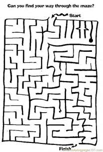 maze coloring pages maze coloring page 58 with additional free coloring