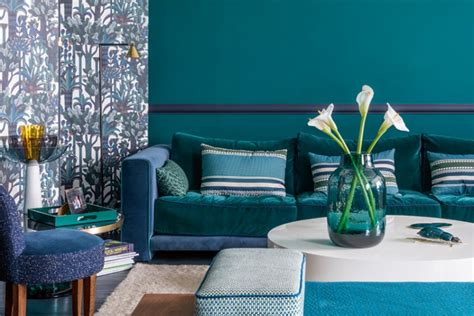 Colour: Teal blue ELLE Decoration UK
