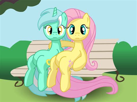 lyra bench lyra and fluttershy bench by balister on deviantart