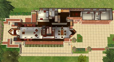 Prairie Style Home by Mod The Sims Frank Lloyd Wright S Quot Robie House Quot