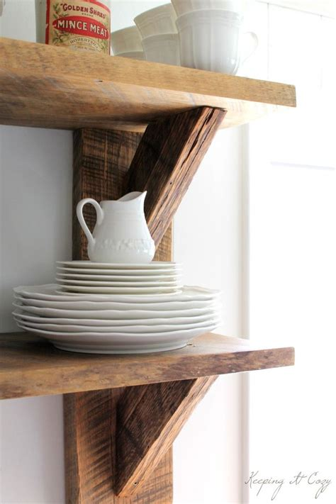 reclaimed wood kitchen shelves pin by remodelaholic on projects to build or make