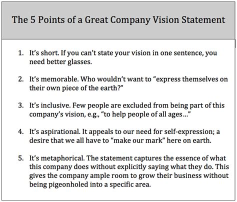 template of vision statement exle of a vision statement vision and mission of