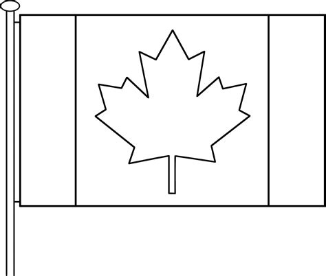 canada flag printable kids coloring europe travel