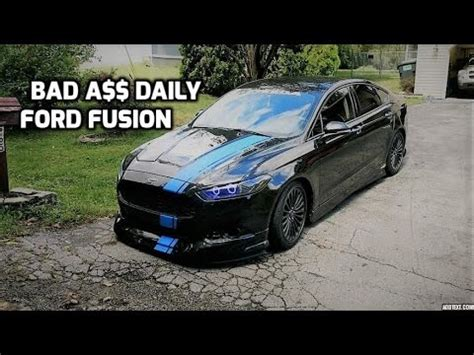 2014 ford fusion custom 2014 ford fusion walkaround kit halos lowered