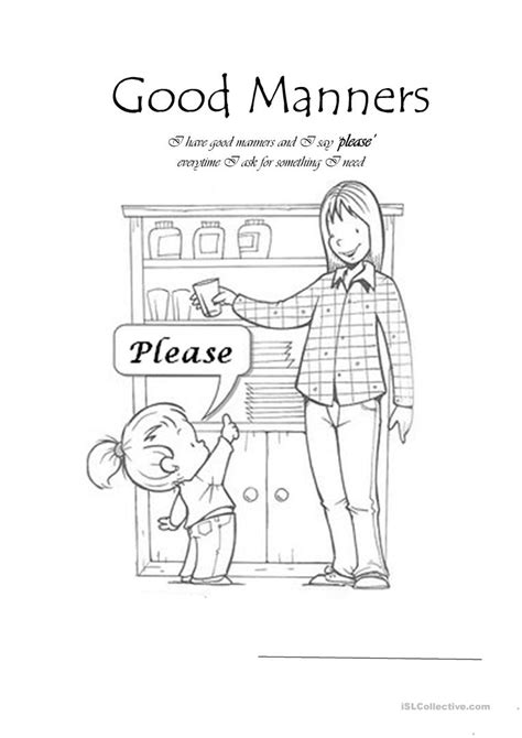 kindergarten manners worksheet kindergarten best free