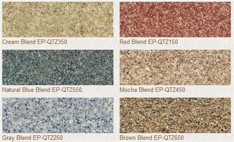 expressions ltd epoxy floor decorative broadcast urethane coated quartz sand blend colors