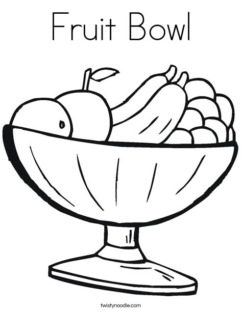 fruit bowl coloring page twisty noodle