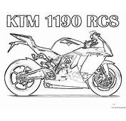 Free Printable Motorcycle Coloring Pages For KidsFree