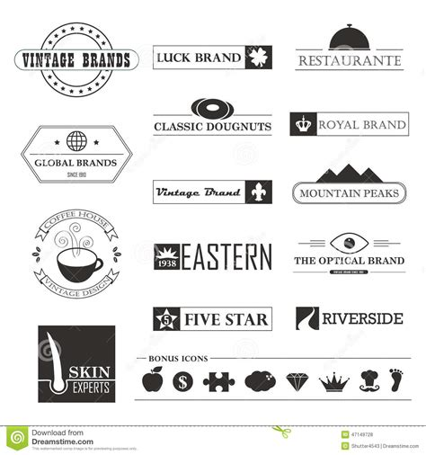 home design brand vintage brands and logo elements stock vector