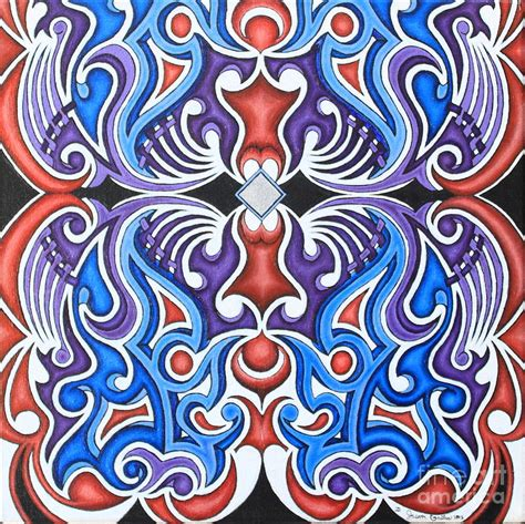 symmetry painting tribal symmetry 1 painting by jason galles