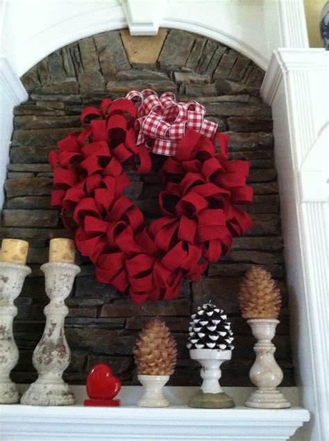 Fireplace Wreaths by Burlap Wreath Valentines Day Blogs