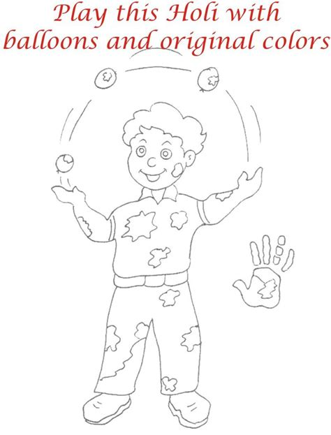 Free Holi Of Krishna Coloring Pages Holi Colouring Pages