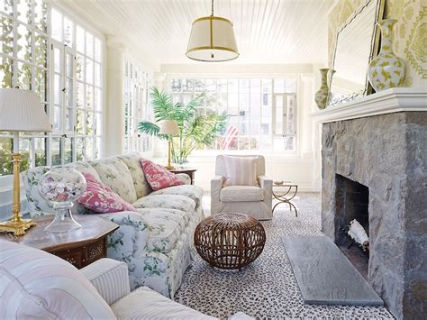 shabby chic sunrooms cottage living room
