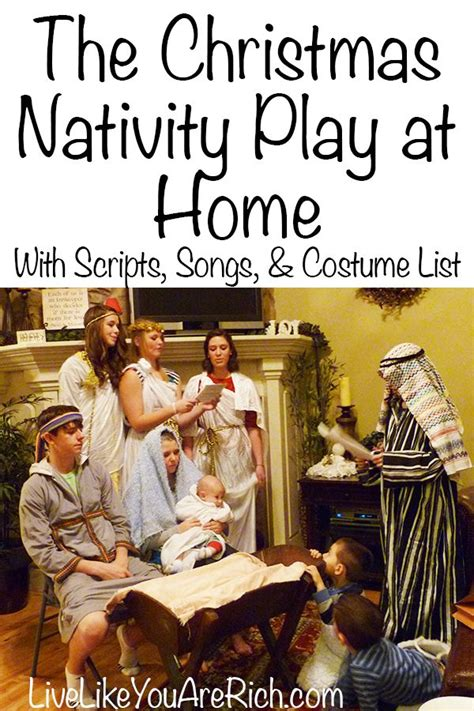 put   christmas nativity play  home