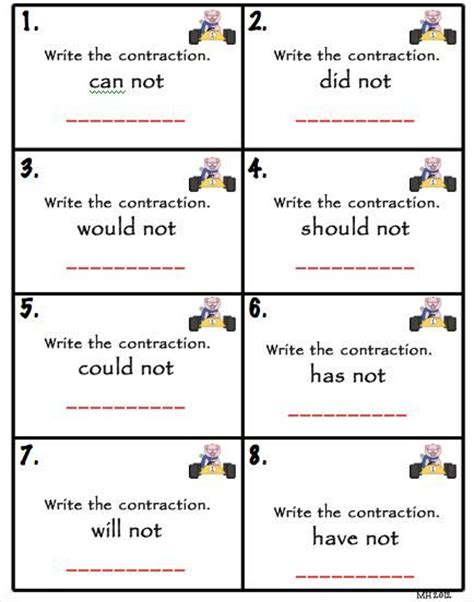 printable contraction games 46 best images about slp contractions freebies on