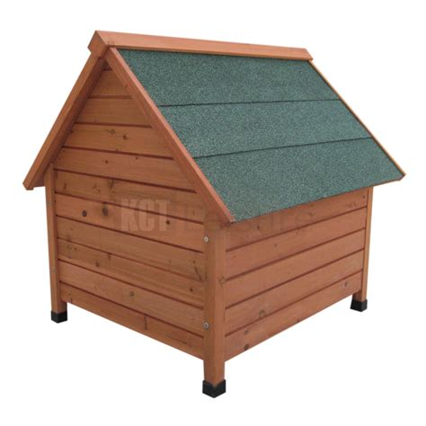dog house oxford medium wooden dog kennel pet house oxford outdoor shelter animal home apex roof